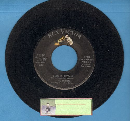 Browns - Blue Christmas/Greenwillow Christmas (Carol)  - VG6/ - 45 rpm Records