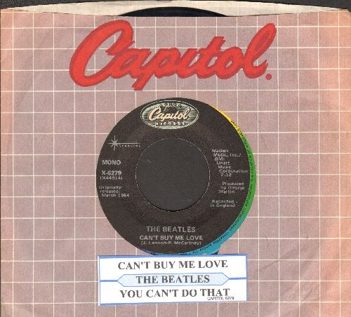 Beatles - Can't Buy Me Love/You Can't Do That (reissue with juke box label and company sleeve) - VG7/ - 45 rpm Records