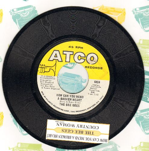 Bee Gees - How Can You Mend A Broken Heart/Country Woman (with juke box label) - NM9/ - 45 rpm Records