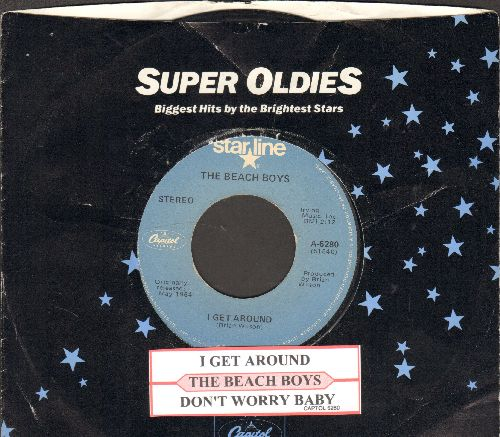 Beach Boys - I Get Around/Don't Worry Baby (double-hit re-issue with Capitol company sleeve) - EX8/ - 45 rpm Records