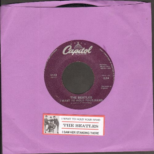 Beatles - I Want To Hold Your Hand/I Saw Her Standing There (re-issue with juke box label) - EX8/ - 45 rpm Records