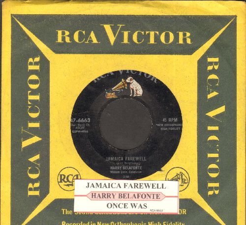 Belafonte, Harry - Jamaica Farewell/Once Was (with juke box label vintage RCA company sleeve) - NM9/ - 45 rpm Records