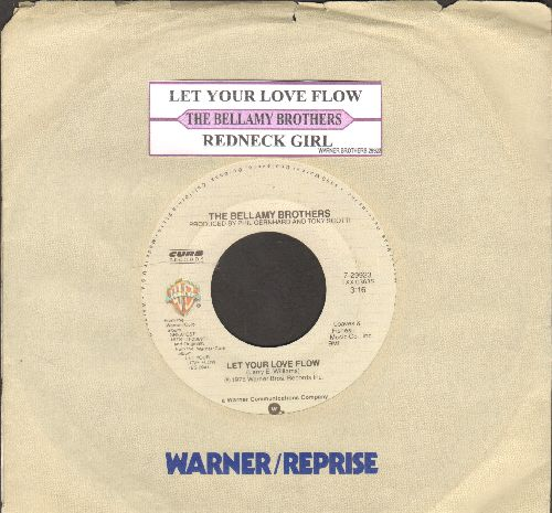Bellamy Brothers - Let Your Love Flow/Redneck Girl (double-hit re-issue with juke box label and company sleeve) - NM9/ - 45 rpm Records