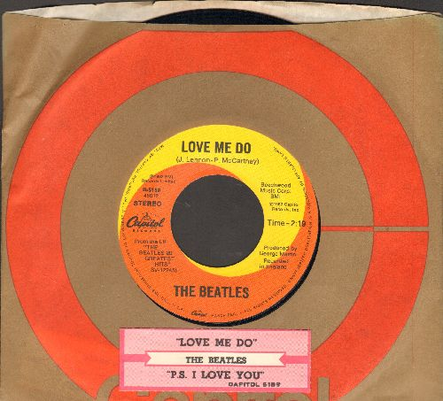 Beatles - Love Me Do/P.S. I Love You (re-issue with juke box label) - EX8/ - 45 rpm Records