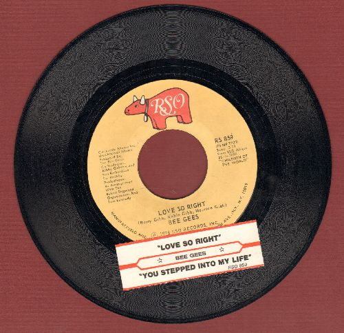 Bee Gees - Love So Right/You Steppeed Into My Life (with juke box label) - NM9/ - 45 rpm Records
