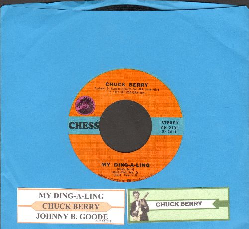 Berry, Chuck - My Ding-A-Ling/Johnny B. Goode (with juke box label) - EX8/ - 45 rpm Records