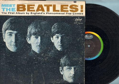 Beatles - Meet The Beatles!: I Want To Hold Your Hand, All My Loving, Till There Was You, I Wanna Be Your man (vinyl STEREO LP record, rainbow-circle label, woc) - EX8/G4 - LP Records