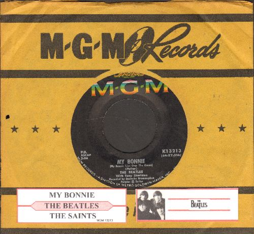 Beatles - My Bonnie/The Saints (with juke box label and MGM company sleeve) - NM9/ - 45 rpm Records