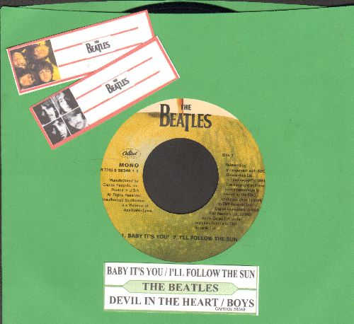 Beatles - Baby It's You/I'll Follow The Sun/Devil In The Heart/Boys (EP with juke box label, 1995 issue) - NM9/ - 45 rpm Records