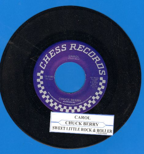 Berry, Chuck - Carol/Sweet Little Rock & Roller (double-hit re-issue with juke box label) - M10/ - 45 rpm Records