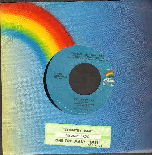 Bellamy Brothers - Country Rap/One Too Many Times (with juke box label and MCA company sleeve) - NM9/ - 45 rpm Records