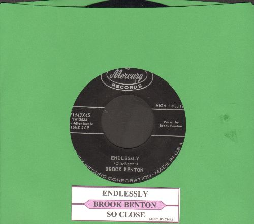 Benton, Brook - Endlessly/So Close (with juke box label) - NM9/ - 45 rpm Records