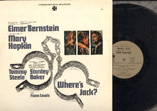 Bernstein, Elmer - Where's Jack? - Original Motion Picture Sound Track, Score composed and conducted by Elmer Bernstein (vinyl STEREO LP record) - NM9/EX8 - LP Records