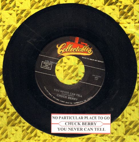 Berry, Chuck - Rock & Roll Music/Blue Feeling (blue label with juke box label and Chess company sleeve) - EX8/ - 45 rpm Records