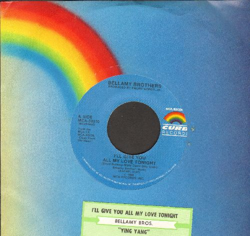 Bellamy Brothers - I'll Give You All My Love Tonight (with MCA company sleeve and juke box label) - NM9/ - 45 rpm Records