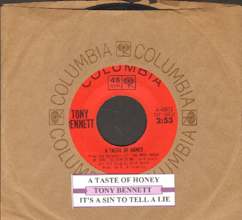 Bennett, Tony - A Taste Of Honey/It's A Sin To Tell A Lie (with Columbia company sleeve and juke box label) - EX8/ - 45 rpm Records