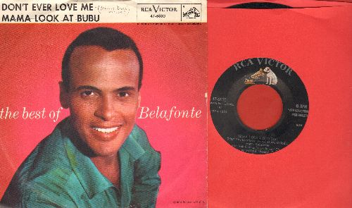 Belafonte, Harry - Mama Look At Bubu/Don't Ever Love Me (with picture sleeve) - NM9/EX8 - 45 rpm Records