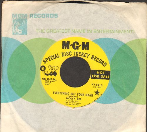 Bee, Molly - Everything But Your Name/A World I Can't Live In (DJ advance pressing with MGM company sleeve) - NM9/ - 45 rpm Records