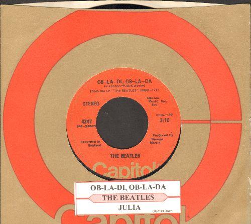Beatles - Ob-La-Di, Ob-La-Da/Julia (with juke box label and Capitol company sleeve) - EX8/ - 45 rpm Records