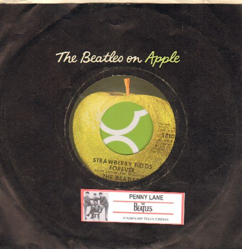 Beatles - Strawberry Fields Forever/Penny Lane (with juke box label and Apple company sleeve) - NM9/ - 45 rpm Records
