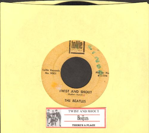 Beatles - Twist And Shout/There's A Place (with juke box label) - VG7/ - 45 rpm Records