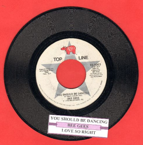 Bee Gees - You Should Be Dancing/Love So Right (double-hit re-issue with juke box label) - EX8/ - 45 rpm Records