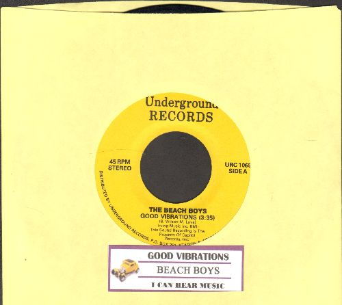 Beach Boys - Good Vibrations/I Can Hear Music (double-hit re-issue with juke box label) - NM9/ - 45 rpm Records