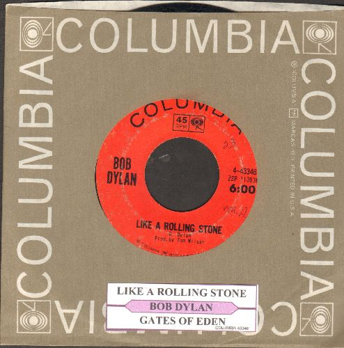 Dylan, Bob - Like A Rolling Stone/Gates Of Eden (with juke box label and Columbia company sleeve) - VG7/ - 45 rpm Records