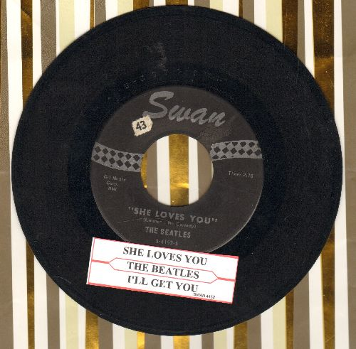 Beatles - She Loves You/I'll Get You (with juke box label) - EX8/ - 45 rpm Records