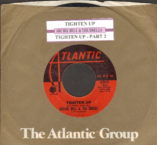 Bell, Archie & The Drells - Tighten Up (Parts 1 + 2) (with juke box label and Atlantic company sleeve) - VG7/ - 45 rpm Records