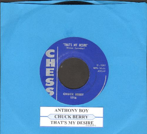 Berry, Chuck - Anthony Boy/That's My Desire (with juke box label) - EX8/ - 45 rpm Records