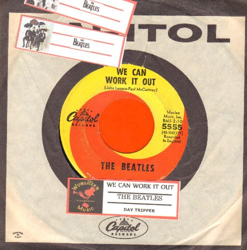 Beatles - We Can Work It Out/Day Tripper (with juke box label and Capitol company sleeve) - VG7/ - 45 rpm Records
