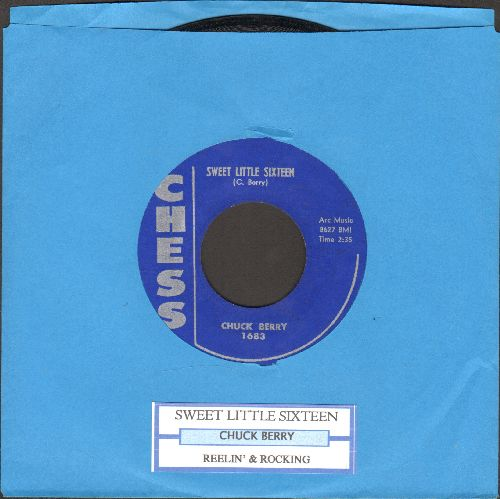 Berry, Chuck - Sweet Little Sixteen/Reelin' And Rocking (with juke box label) (minor lable blemish on B-side) - EX8/ - 45 rpm Records