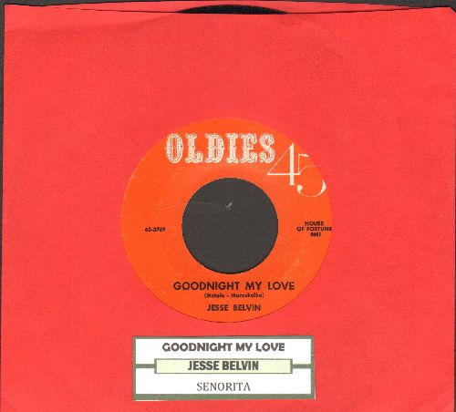 Belvin, Jesse - Goodnight My Love/Senorita (double-hit re-issue with juke box label) - NM9/ - 45 rpm Records