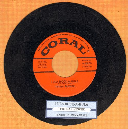 Brewer, Teresa - Lula Rock-A-Hula/Teardrops In My Heart (with juke box label) - NM9/ - 45 rpm Records