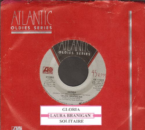 Branigan, Laura - Gloria (CONGRATULATIONS to  St. Louis Blues, 2019 Stanley Cup CHAMPIONS!)/Solitaire (double-hit reissue with juke box label and Atlantic company sleeve) - NM9/ - 45 rpm Records