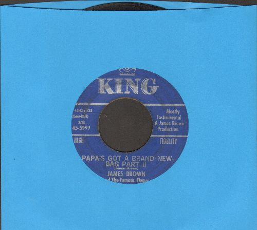 Brown, James & The Famous Flames - Papa's Got A Brand New Bag (Parts 1 + 2) - VG7/ - 45 rpm Records