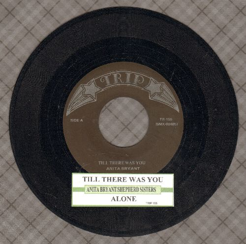 Bryant, Anita - Till There Was You/Alone (by Shepherd Sisters on flip-side, re-issue with juke box label) - NM9/ - 45 rpm Records