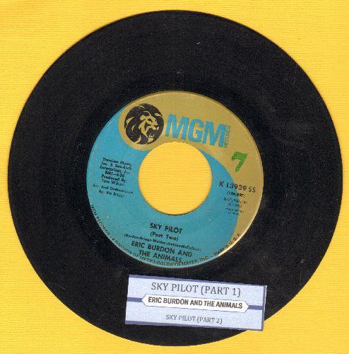 Burdon, Eric & The Animals - Sky Pilot (Parts 1 + 2) (with juke box label) - VG7/ - 45 rpm Records