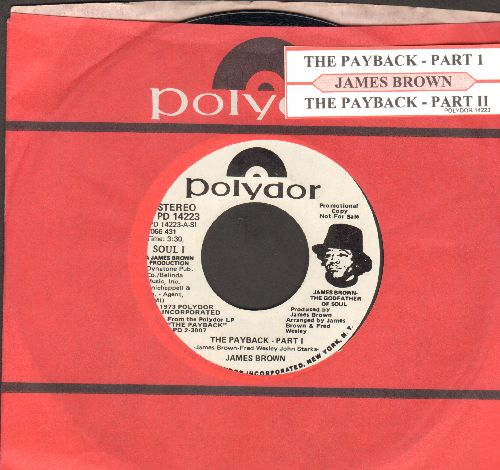 Brown, James - The Payback Parts 1 + 2)  (DJ advance pressing with juke box label) - NM9/ - 45 rpm Records
