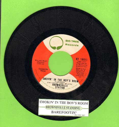 Brownsville Station - Smokin' In The Boy's Room/Barefootin' (with juke box label) - EX8/ - 45 rpm Records