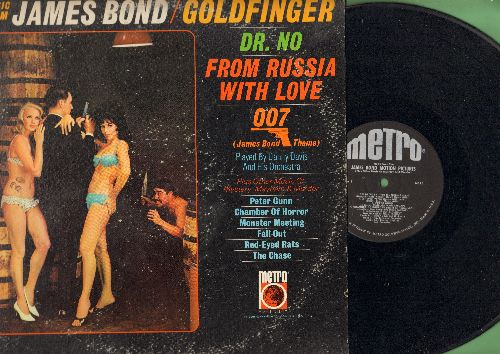 Davis, Danny & His Orchestra - Music From James Bond/Goldfinger: Dr. No, From Russia With Love, 007 James Bond Theme, Peter Gunn, Monster Meeting, The Chase (Vinyl MONO LP record) - EX8/VG7 - LP Records
