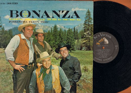 Bonanza - Bonanza - TV's Origional Cast: Ponderosa, Skip To My Lou, Happy Birthday, Shanandoah, My Sons My Sons (Vinyl LP record, Living Stereo Pressing) - NM9/EX8 - LP Records