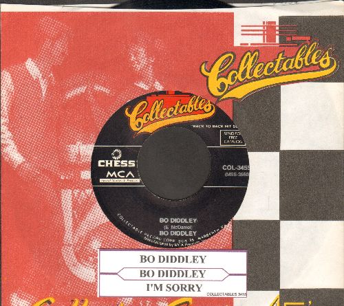 Diddley, Bo - Bo Diddley/I'm Sorry (double-hit re-issue with company sleeve and juke box label) - NM9/ - 45 rpm Records