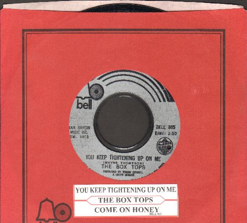 Box Tops - You Keep Tightening Up On Me/Come On Honey (RARE Bubblegum 2-sider with Bell company sleeve and juke box label) (bb) - NM9/ - 45 rpm Records