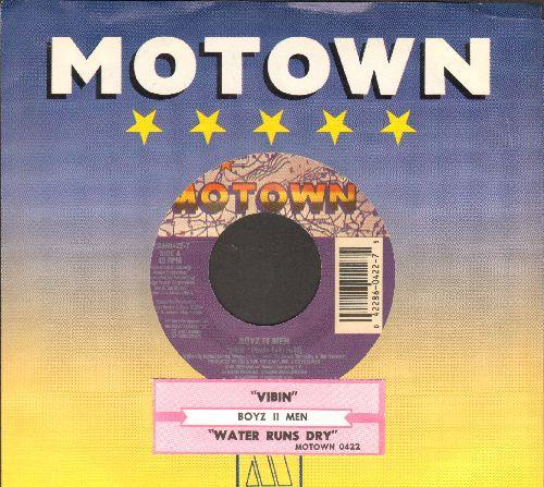 Boyz II Men - Vibin'/Water Runs Dry (with juke box label and Motown company sleeve) - NM9/ - 45 rpm Records