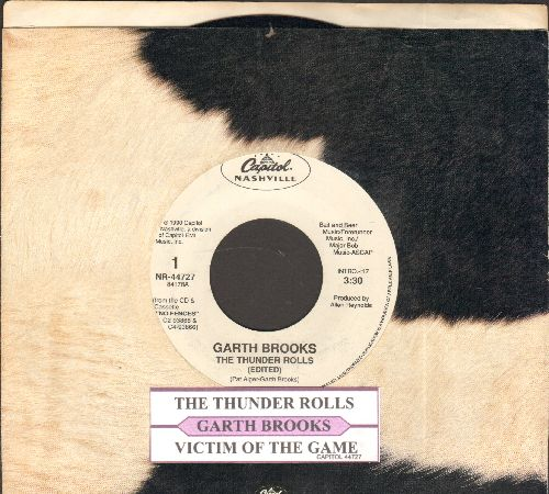 Brooks, Garth - The Thuder Rolls/Victim Of The Game (with juke box label and Liberty company sleeve) - EX8/ - 45 rpm Records