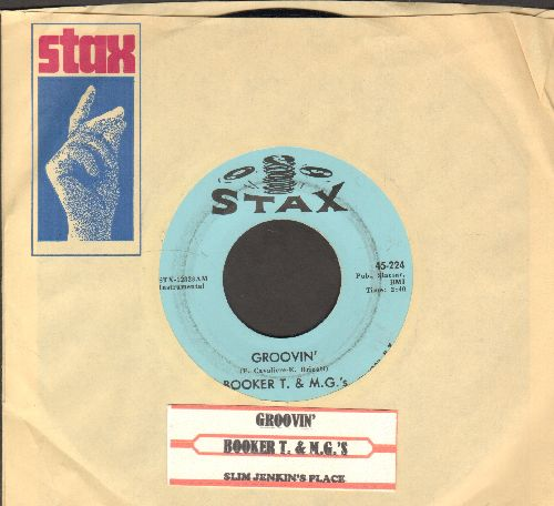 Booker T. & The M.G.'s - Groovin'/Slim Jenkin's Place (with juke box label and Stax company sleeve) - NM9/ - 45 rpm Records