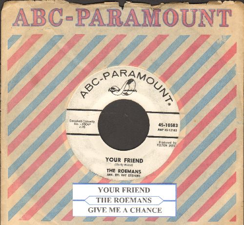 Roemans - Your Friend/Give Me A Chance (RARE 60s Garage-Rock 2-sider, DJ advance pressing with ABC-Paramount company sleeve and juke box label) - VG7/ - 45 rpm Records