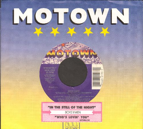 Boyz II Men - In The Still Of The Night (I'll Remember)/Who's Lovin' You (by The Jackson 5 on flip side) (with juke box label and Motown company sleeve) - NM9/ - 45 rpm Records